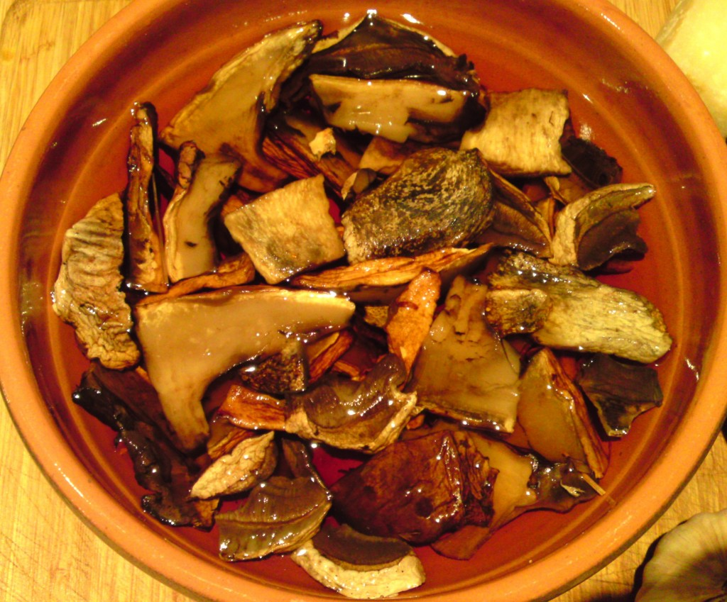 porcini soaking
