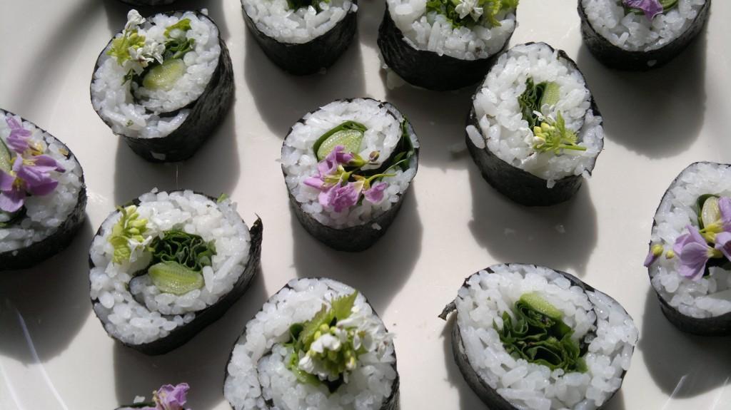 foraged sushi
