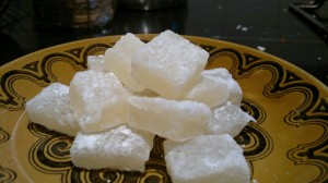 Elderflower turkish delight - set with carrageen