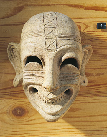 A sardonic death mask from North Africa