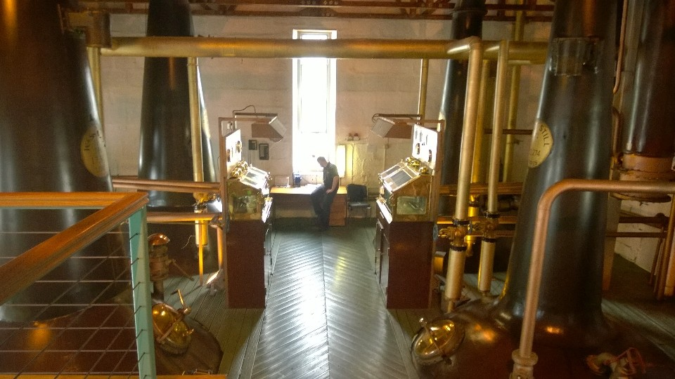 The beautiful still room at Bruichladdich